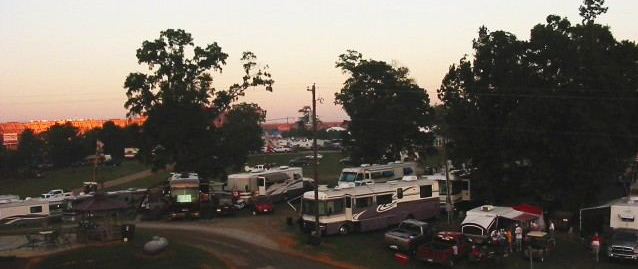 Campground At Sunset